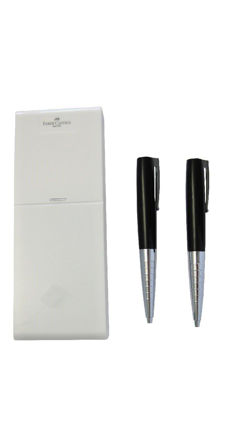 Faber-Castell 249012 - Set per scrittura Loom Piano, con matita e penna a sfera, colore: Nero
