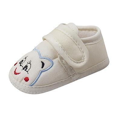 ????LuckyGirls Garçon de Fille Chaussures de Berceau à Semelle Molle Chaussures pour Bambin Sneaker Toile -Tissu Coton- 0~18 Mois