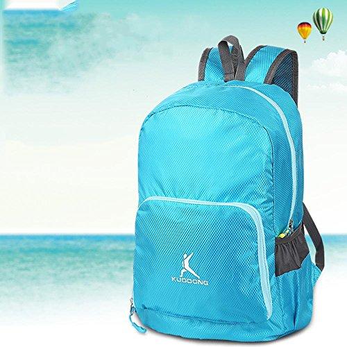 BUSL bolsa de piel al aire libre ultraligero senderismo mochila bolsa de montaña hombres y mujeres bolsa de hombro ligera de viaje plegable resistente al agua
