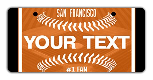 Sf Giants Girl Costume (BleuReign(TM) Personalized Custom Name Baseball San Francisco Bicycle Bike Moped Golf Cart 3