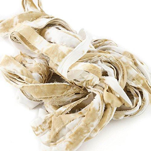 Bachaaya | Freedom Yarn - Raw Linens | Rajasthani Strip Yarn | for Knitting, Crocheting, Weaving | 225 Feet (75 Yards), 150 Grams (5.3 Ounces)