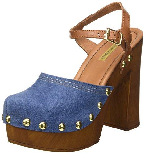 Tosca Blu Zolfo - Mules Mujer Azul - Blau (BLU C30)
