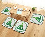 Universal Chair Cushions Oman in Circle Frame Activity Flexibility Gymnastics Plant Greenery Training Personalized Durable W15.5 x L15.5/4PCS Set