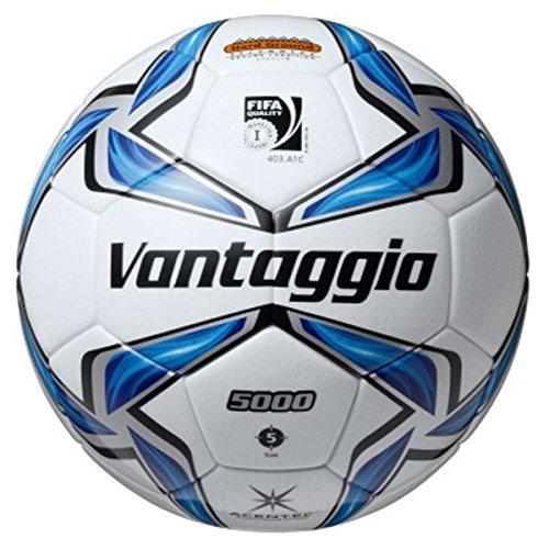 モルテン(Molten) サッカーボール5号球 ヴァンタッジオ5001土用 スノーホワイト×ブルー F5V5001 B07D1LKJ51