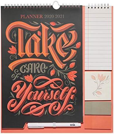 Calendario da Muro 2020/2021 Anna Rolskaya con planner mensile da Settembre '20 a Dicembre '21. Include bloc notes, bloc adesivi, to do list, penna e adesivi stickers. Dimensioni di 30x34 cm