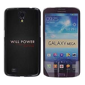 Stuss Case / Funda Carcasa protectora - Will Power On Dark Brown - Samsung Galaxy Mega 6.3