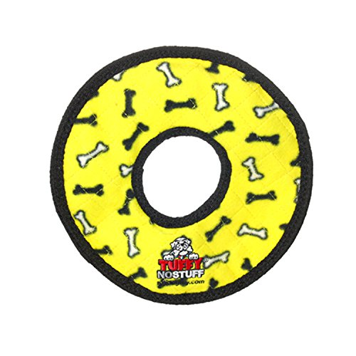 TUFFY No Stuff Ultimate Ring, Durable Squeaky Dog Toy, Yellow