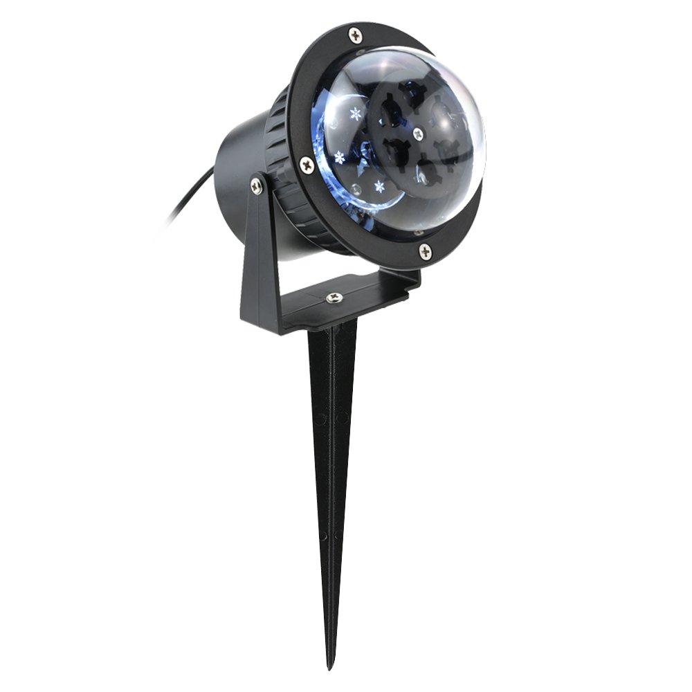 Docooler 3W Sfera Luce Magica Rotante IP44 4LEDs per Natale Giardino Partito