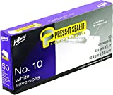 Hilroy No. 10 Press-It Seal-It Boxed Envelopes, 4-1/8 X 9-1/2-Inch, White, 50-Count (36712)
