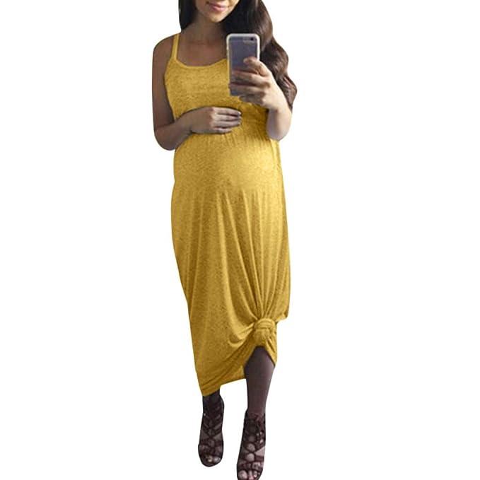 Soupliebe Vestido de Maternidad Vestidos Tirantes Largos ...