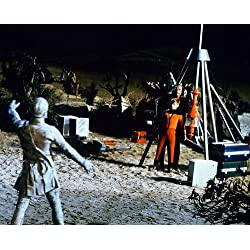 Lost in Space 8x10 Promotional Photograph Jonathan Harris hiding behind Billy Mumy