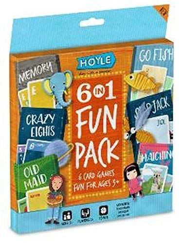 Hoyle 6 In 1 Fun Pack Kids Playing Cards Games Go Fish Crazy 8s Old Maid Slapjack ()