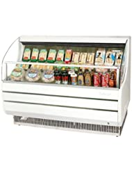 Turbo Air TOM60S 63 Open Display Merchandiser with Modern Design Environmental Friendly Refrigeration System Glass Sides Anti-Rust Coating High Density PU Insulation and Improved Air Flow: