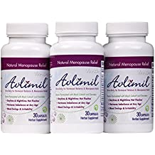 Avlimil Natural Menopause Supplement Pills | Balance Hormones, Ease Hot Flashes, Sweating, Mood Swings - Genistein Isoflavones, Black Cohosh, Damiana Leaf, Valerian - 90 Capsules (3 Months)