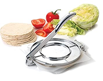"Tortilla Press Heavy Cast Aluminum 7.5"" Inch Authentic Tortilla Press Maker"