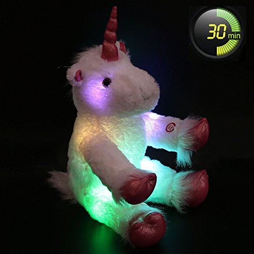 Heavenly 3 Piece Soft (Wewill LED Lumious Giant Stuffed Unicorn with Heavenly White Plush, 16-Inch)