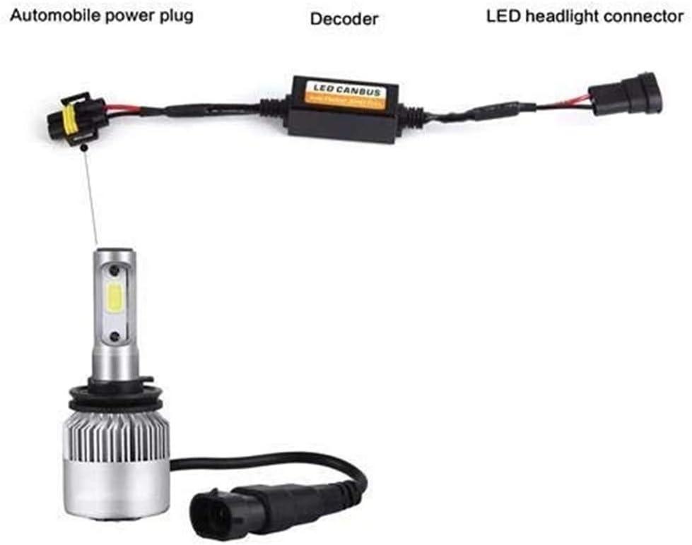H8 H9 H11 LED Headlight Canbus Wiring Kit Computer Warning Error Free Anti Flicker Resistor Canceler Decoder pack of 2
