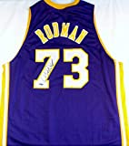 Dennis Rodman Signed Autographed Los Angeles Lakers Basketball Jersey (TriStar Authenticated)