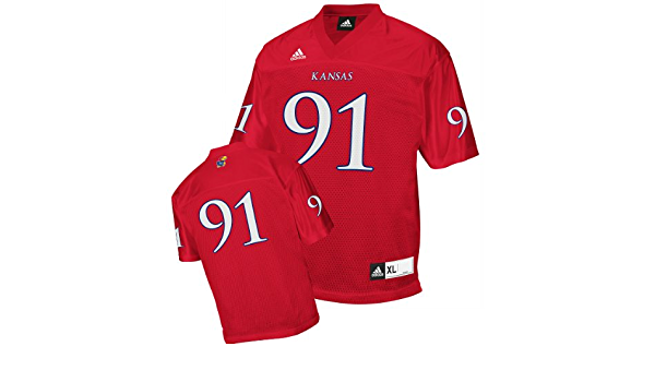 Amazon.com : Kansas Jayhawks Football Jersey: adidas #5 Blue ...