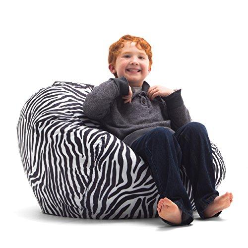 Big Joe 98-Inch Bean Bag, Zebra (Zebra Bean Bag Chair)