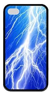 Lightning Bolt Custom iPhone 4S Case Cover ¡§C TPU ¡§CBlack