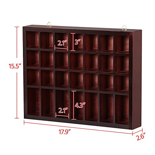 Storage Wooden Display Cabinet Modern Shelves Wall Glass Case Box Collectibles with ebook by MRT SUPPLY (Image #5)