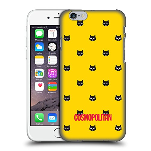 Official Cosmopolitan Yellow Lovey The Cat Hard Back Case for Apple iPhone 6 / 6s