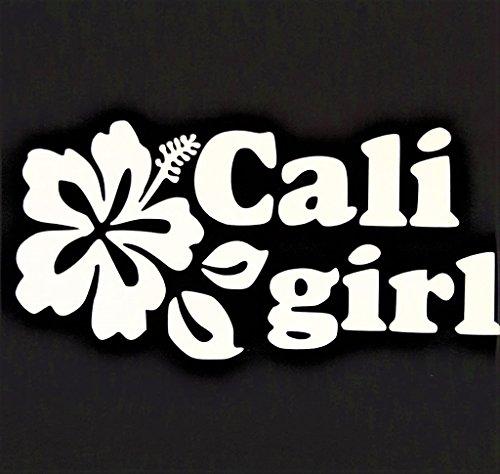 - California Girl Cali Girl West Coast Vinyl Decal Sticker|WHITE|Cars Trucks Vans SUV Laptops Wall Art|7