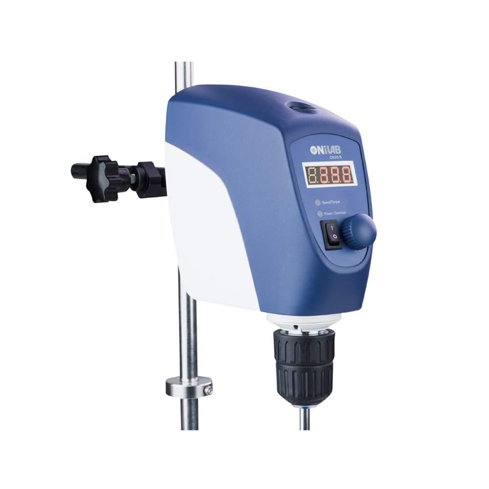 ONiLAB LED Overhead Stirrer Max. Stirring: 20L Max Speed: 2200Rpm, Dark Blue, Aluminum Alloy by ONiLAB
