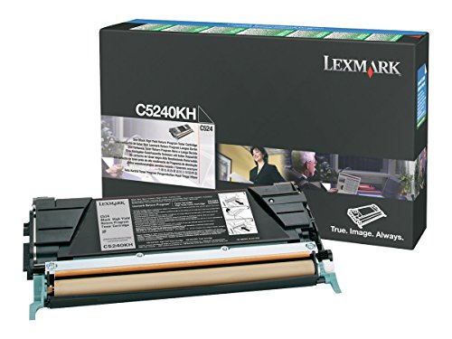 - Lexmark C5240KH High Yield Return Program Black Toner Cartridge for C524, C534