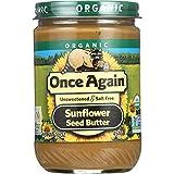 Once Again Sunflower Seed Butter - USDA Organic - Creamy - No Salt - Sugar Free - - 16 oz - case of 12 - Non GMO - Gluten Free -Vegan