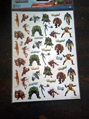 Marvel Heroes Stickers (2 Sheets) by Sticker Xpress