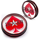 GSE Games & Sports Expert 3-Inch Double-Sided Casino Clear Acrylic Poker Dealer Puck Button