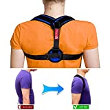 Posture Corrector Clavicle Support Brace Adjustable (28''- 48'') Figure 8 Back Medical Device to Improve Bad Posture, Thoracic Kyphosis, Shoulder Alignment, Upper Back Pain Relief for Men and Women