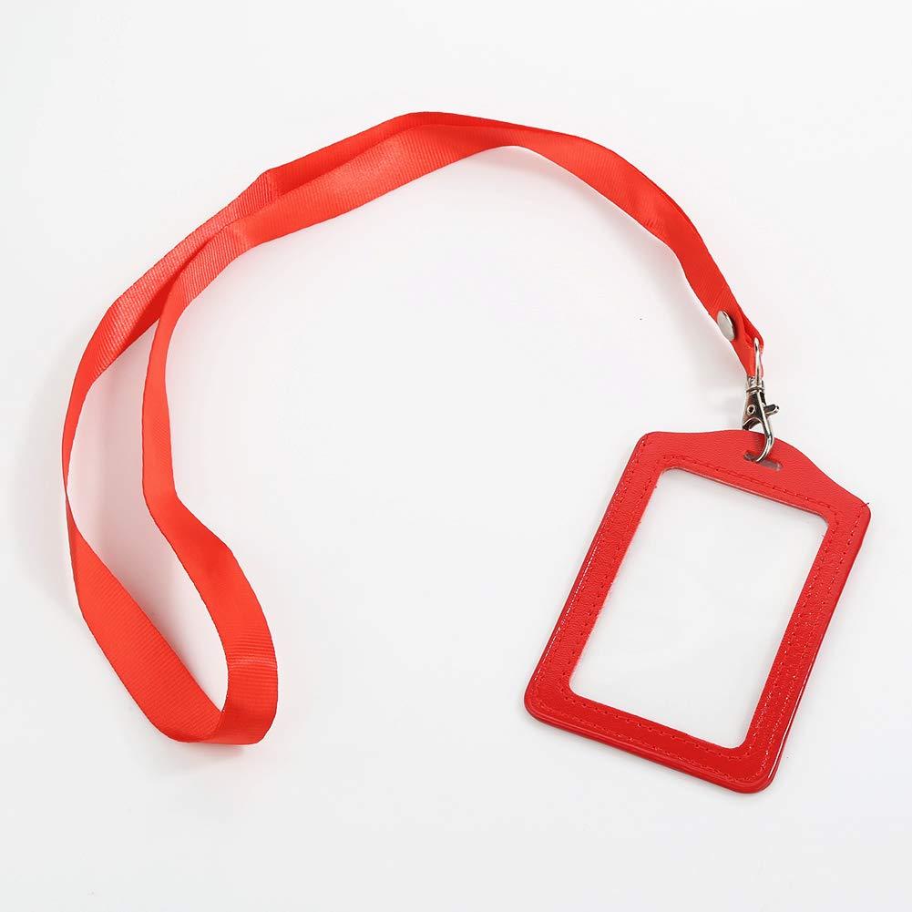 Jiyoujianzhu Fashionable ID badge carta impermeabile tipo richiudibile collo cordino//cinghia per uffici driver licenza Blue numero di scuola
