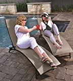 Eclipse Collection Midtown Sun Lounger 3 Pc Set (2 loungers, 1 table) - Cocoa New