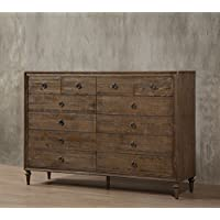 ACME Furniture Inverness 26097 Dresser with 12 Drawers, Reclaimed Oak, One Size