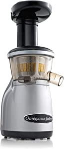 Omega Vertical Low Speed Juicer, 150-Watt, Silver