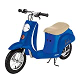 Razor Pocket Mod Miniature Euro 24 Volt 250 Watt Electric Retro Scooter, Blue