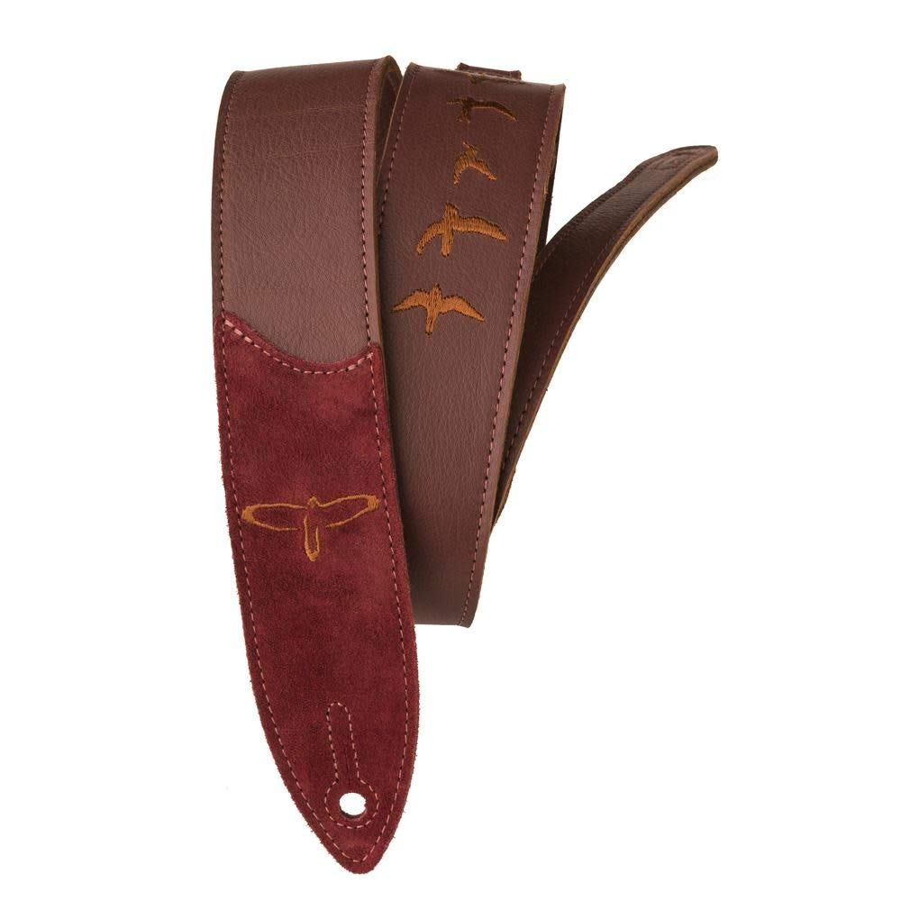 Burgundy PRS Premium Leather Strap