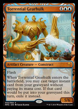 Magic: the Gathering - Torrential Gearhulk (002/054) - Masterpiece Series: Kaladesh & Aether Revolt Inventions - Foil (Best Cards In Aether Revolt)