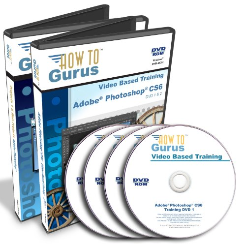 Adobe Photoshop CS6 & Adobe Photoshop Web Projects Training on 4 DVDs 28 Hours in 249 Video Lessons Computer Software Tutorials (Cs6 Adobe Photoshop)