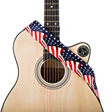 Guitar Straps for Acoustic/Electric/Bass & Guitar- US Flag Stars-2' Wide - 35-57' Length (US Flag 2)