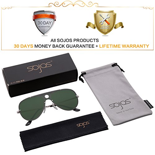 For Flat Rimless Mirrored Sunglasses C4 Aviator g15 Women Sojos And Top Frame Sj1096 Lens Men Oversized Gold qTXw5xpU