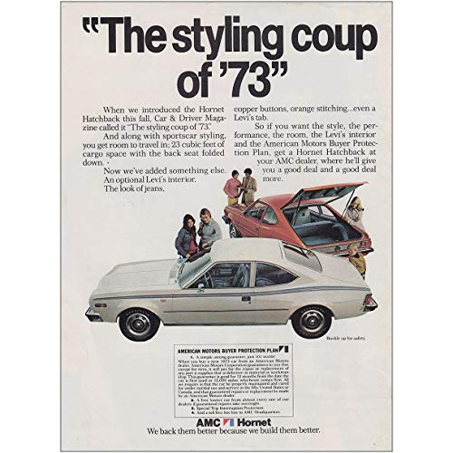 Hornet: The Styling Coup of 73, American Motors Print Ad ()