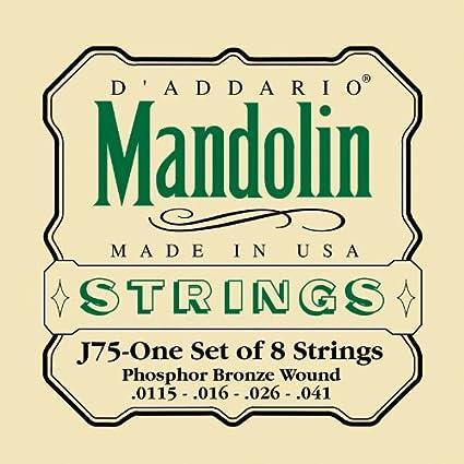 Phosphor Bronze 11.5-41 Medium//Heavy D/'Addario EJ75 Mandolin Strings
