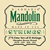 D\'Addario J75 Mandolin Strings, Phosphor Bronze, Medium/Heavy, 11.5-41