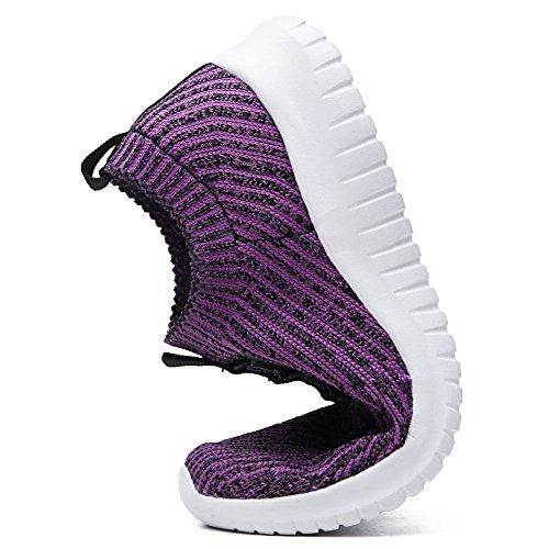 Shoes LANCROP Running Women's Sneakers Athletic Walking Lightweight On Mesh Purple Slip 2122 Casual w1tqqrxd0