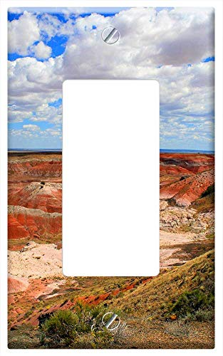 Switch Plate Single Rocker/GFCI - Painted Desert Colorful Clouds Arizona Southwest