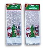 Christmas Santa Themed Loot Treat Bags - 50 Pack
